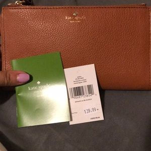 NWT Kate Spade Large Brown Wallet Authentic 😍